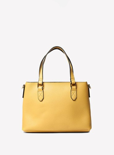 Dorothy Perkins Yellow Mini Trapeze Tote Bag FKY16s