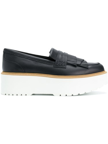 Hogan Platform Fringed Loafers Black eUt8V9us