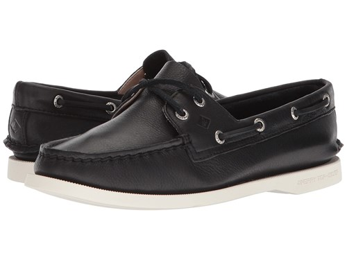 Sperry A O 2 Eye Black Women's Lace Up Casual Shoes AuvIcWQy7r