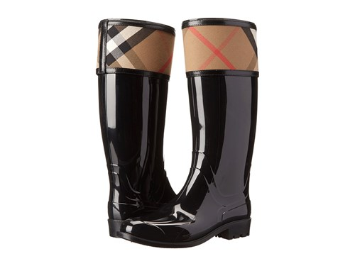 Burberry Crosshill Black Pull On Boots IOWCZ