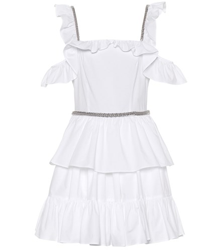 Christopher Kane Cotton Poplin Minidress White IHhHXHKFT