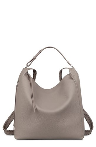 AllSaints Kita Convertible Leather Backpack Grey Taupe Grey IfXc7ZZAn