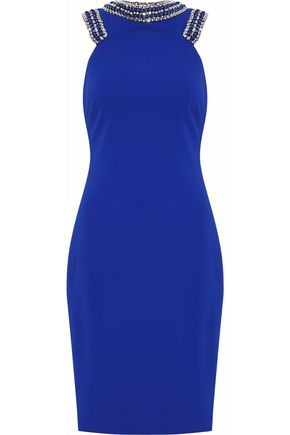 Badgley Mischka Embellished Cady Dress Royal Blue yxGAhEUdN