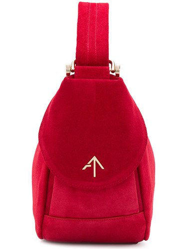 MANU Atelier Fernweh Tote Bag Suede Red sd8PHE