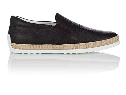 Tod's Pantofola Leather Espadrille Sneakers Brown U8BTKy1c