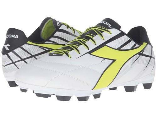 Diadora Forte Md Lpu White Fluo Yellow Black Men's Soccer Shoes V1OPFNg