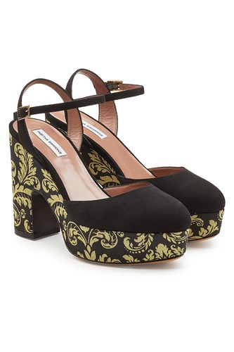 Tabitha Simmons Damask Platform Pumps With Suede Multicolored 60i7T8XwD