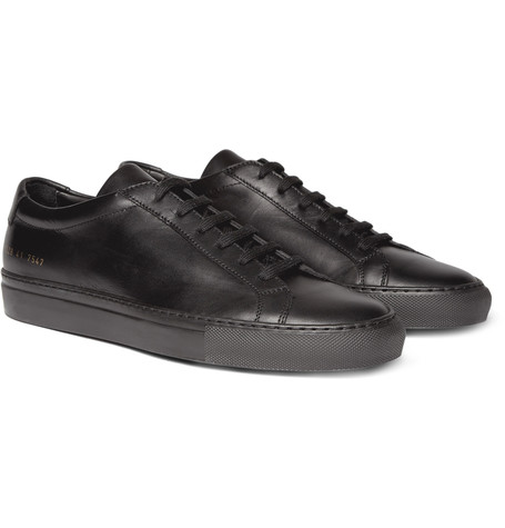 Common Projects Original Achilles Leather Sneakers Black 5TrfjaRn5F