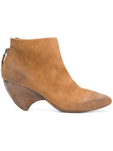 Marsèll Curved Heel Ankle Boots Brown gDMyMcf8e