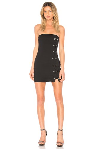 By The Way Way. Tina Lace Up Dress Black 4szgWnW