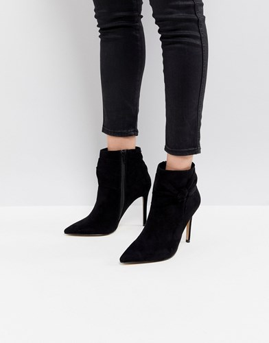 Lipsy Bow Detail Pointed Ankle Boot Black CywwAm