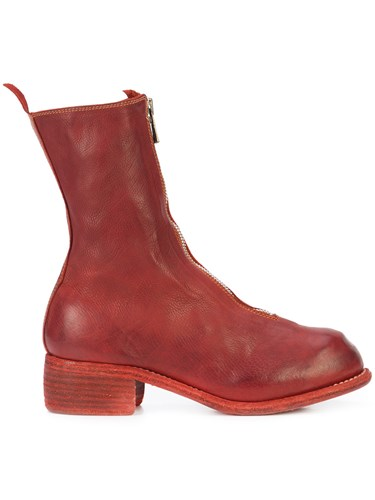 Guidi Front Zip Boots Red xndr8EnXJS