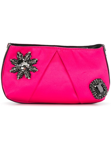 Pinko Embellished Clutch Pink And Purple EPsh6QU