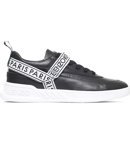 Kenzo Calvin Leather Trainers Black pNo2oeCXR9