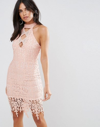 Blush Dress Crochet Blush Pink Paris Midi AX vWqIHXa