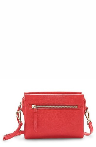 Vince Camuto Codec Leather Crossbody Bag Red Fruit Punch KOIicy