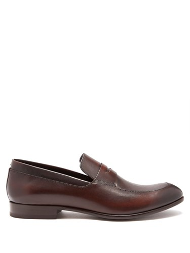 Harry's of London Jimmy Leather Penny Loafers Dark Brown IFgp17H