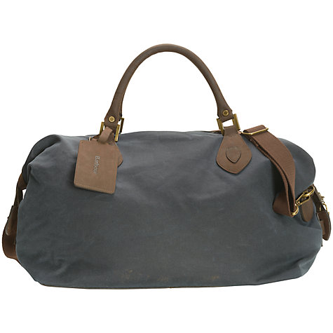 Barbour Wax Cotton Travel Explorer Holdall Navy znulpUJJ