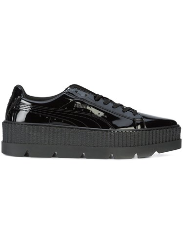 Fenty Puma by Rihanna X Pointy Creeper Sneakers Patent Leather Rubber 10.5 Black 99U1pSCIC6