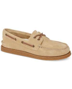 Sperry Men's A O 2 Eye Suede Boat Shoes Men's Shoes Sand OCtaxIsZas