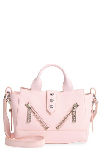 Kenzo 'Mini Kalifornia' Leather Satchel Pink Faded Pink mdA7PVR0