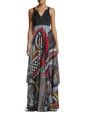 Tommy Hilfiger Collection Victory Maxi Dress Meteorite lY90zNk