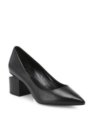 Toe Wang Pumps Leather Simona Alexander Tilt Black Point Heel xpdHwqYq