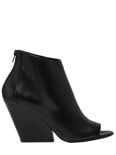 Strategia 80Mm Leather Open Toe Boots 8SoT9s5PJ