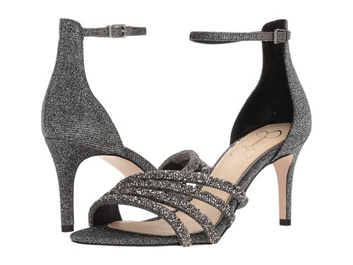Jessica Simpson Paveny Pewter Multi Glitter Gabor Shoes KReHq