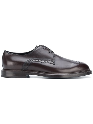 Dolce & Gabbana Perforated Derby Shoes Brown sNfYXPBIzo