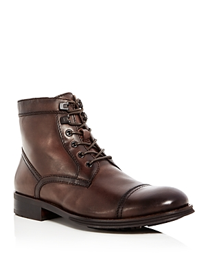 Kenneth Cole Men's Design Leather Cap Toe Boots 100 Exclusive Dark Brown az5RCJOCRy