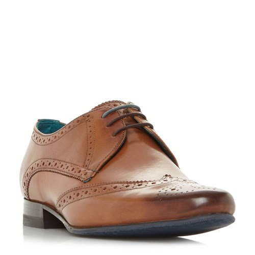 Ted Baker Hosei Point Wingtip Brogue Shoes Tan anCne