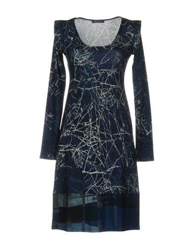 Monika Varga Short Dresses Dark Blue rnGNBkyO