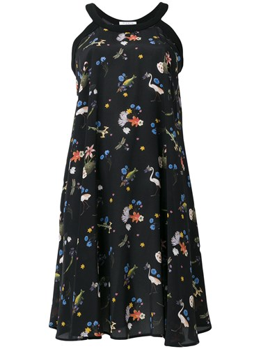Vivetta Floral Printed Dress Black 8u8uSpdF