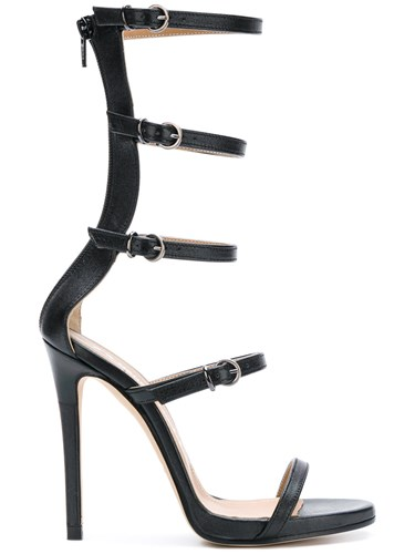 Marc Ellis High Gladiator Sandals Black nGM5Jp4