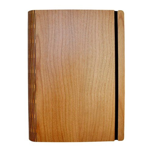 Cherry Crown Wooden Notebook Pocket 15.5X19cm