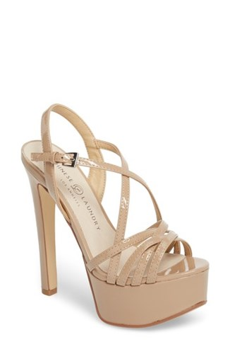 Chinese Laundry Teaser2 Platform Sandal Nude Patent Phm4ww