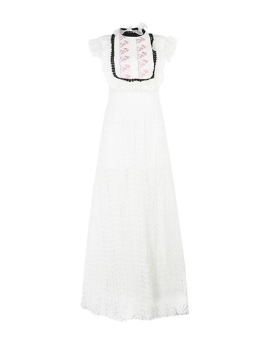 Giamba Long Dresses White DFPhi4T0d