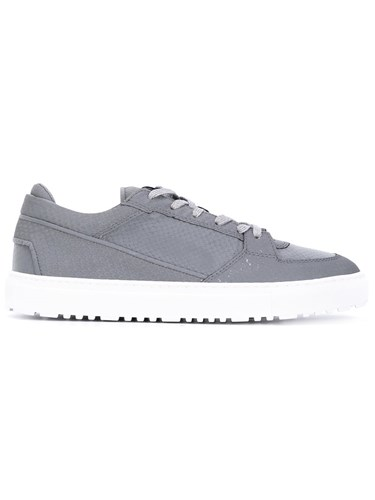 ETQ Amsterdam Etq. Snake Low Top Sneakers Men Leather Pvc Rubber 44 Grey j5pPo14Pcu