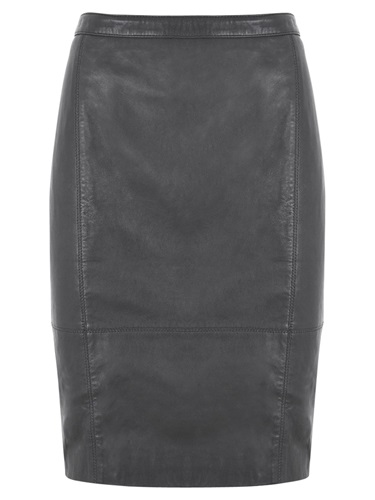 mint velvet leather pencil skirt grey graphite nuji
