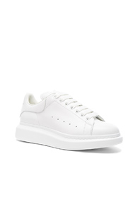 Alexander McQueen Leather Platform Sneakers In White YBVwNh