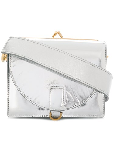 Sacai Metallic Leather Satchel krqwaS