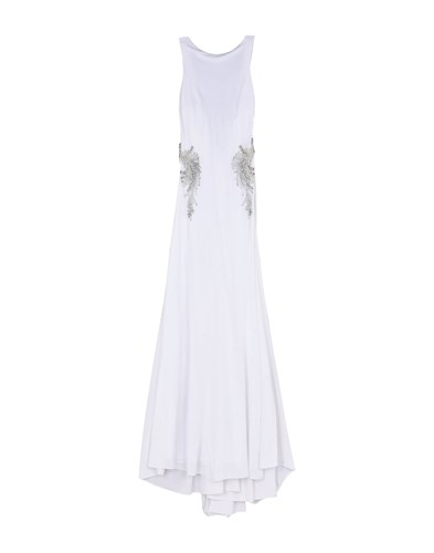Mikael Aghal Long Dresses White uXdXcyUe
