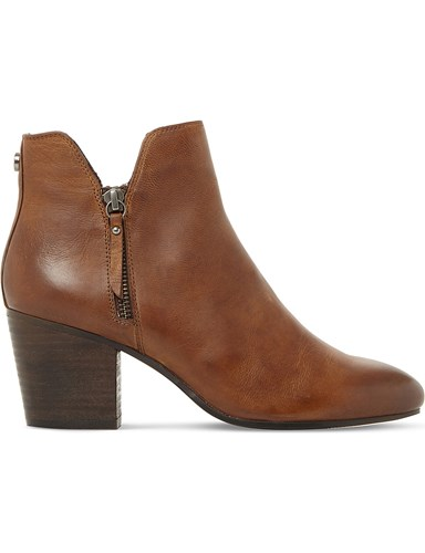 Steve Madden Winner Leather Ankle Boots Tan Leather hLALuf