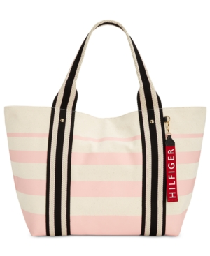 Tommy Hilfiger Classic Painted Stripe Extra Large Tote Pink ewFIK5Cf