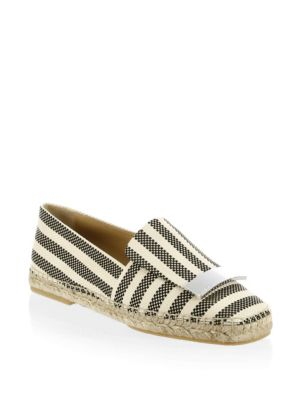 Sergio Rossi Striped Espadrilles Black Multi ExxfTgU