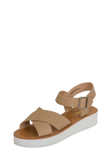 Dorothy Perkins London Rebel Beige Snake Flatform Sandals UgKbGAG