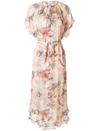 Zimmermann Radiate Cascade Floral Print Dress Multicolour qK7Zs