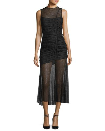 Camilla And Marc Plaza Lace Sheer Ruched Gown Black oJGhKR