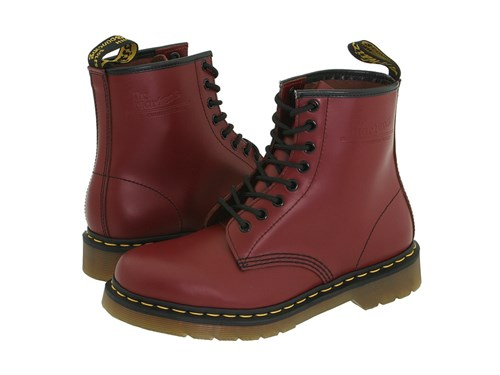 Dr. Martens 1460 Cherry Red Smooth Lace Up Boots 6wuSw